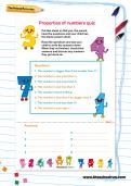 Properties of numbers quiz