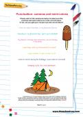 Punctuation: commas and semi-colons worksheet