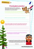 Punctuation practice worksheet
