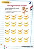 Putting numbers in order worksheet