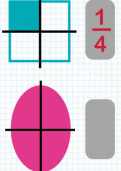 Recognising one, two, three and four quarters of a shape tutorial
