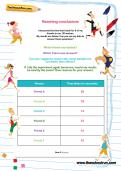 Reaching conclusions worksheet