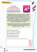 Reading comprehension: The Camping Holiday