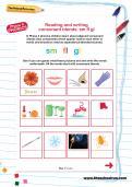 Reading and writing consonant blends: sm fl gl worksheet