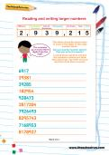 Reading and writing larger numbers