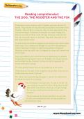 Reading comprehension: THE DOG, THE ROOSTER AND THE FOX