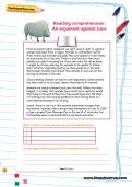 Reading comprehension: An argument against zoos