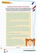 Reading comprehension: bad temper