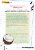 Reading comprehension: foraging for food