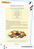 Reading comprehension: How to make a healthy salad