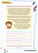 Year 1 reading comprehension: Lucy's first day