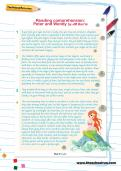 Reading comprehension: Peter and Wendy by JM Barrie