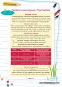 Year 2 reading comprehension: Pond habitats