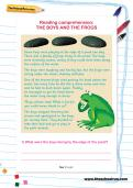 Reading comprehension: THE BOYS AND THE FROGS