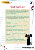 Reading comprehension: THE CAT AND THE MICE