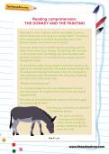 Reading comprehension: THE DONKEY AND THE PAINTING
