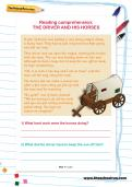 Reading comprehension: THE DRIVER AND HIS HORSES