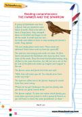 Reading comprehension: THE FARMER AND THE SPARROW