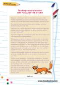 Reading comprehension: THE FOX AND THE STORK