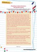 Reading comprehension: the garden party