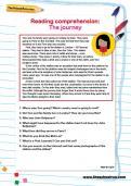 Reading comprehension: The journey worksheet