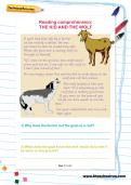 Reading comprehension: THE KID AND THE WOLF