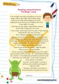 Year 2 reading comprehension: The Magic Lamp