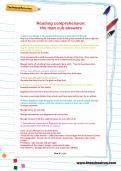 Reading comprehension: the man cub