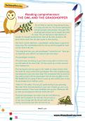 Reading comprehension: THE OWL AND THE GRASSHOPPER