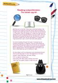 Reading comprehension: The stolen spy kit