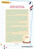 Reading comprehension: THE WOLF AND THE LAMB
