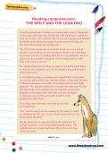 Reading comprehension: THE WOLF AND THE LEAN DOG