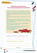 Reading comprehension: THE YOUNG CRAB AND HIS MOTHER