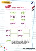 Reading CVCC words worksheet