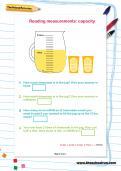 Reading measurements: capacity worksheet