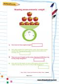 Reading measurements: weight worksheet