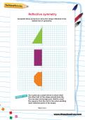Reflective symmetry worksheet