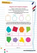 Regular and irregular polygons worksheet