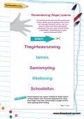 Remembering (finger) spaces worksheet