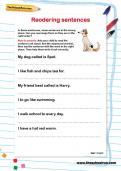 Reordering sentences worksheet