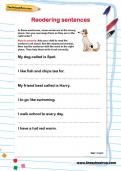 Reordering sentences worksheet