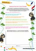 Research the life of Jane Goodall worksheet