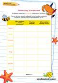 Researching invertebrates worksheet