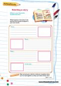 Retelling a story worksheet