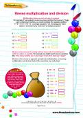 Revise multiplication and division worksheet