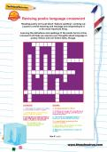Revising poetic language crossword