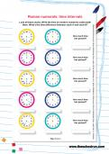 Roman numerals: time intervals worksheet