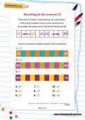 Rounding to the nearest 10 worksheet