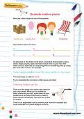 Seaside similes poem worksheet