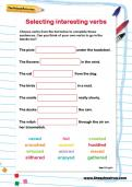 Selecting interesting verbs worksheet